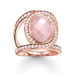 "cocktail ring ""pink Love Knot"" from the Glam & Soul collection in the THOMAS SABO online store"