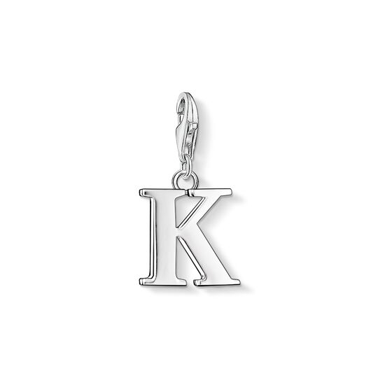 Charm pendant letter K from the Charm Club collection in the THOMAS SABO online store