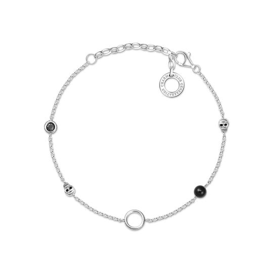 Charm bracelet skull from the Charm Club collection in the THOMAS SABO online store