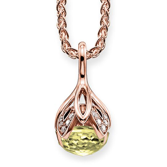 "necklace ""green lotus flower"" from the Glam & Soul collection in the THOMAS SABO online store"