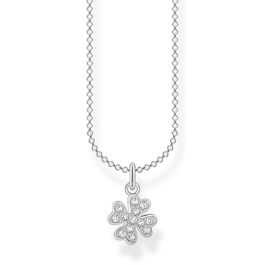 Halsband klöverblad pavé silver ur kollektionen Charming Collection i THOMAS SABO:s onlineshop