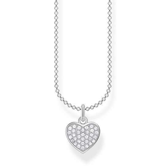 Necklace heart pavé silver from the Charming Collection collection in the THOMAS SABO online store