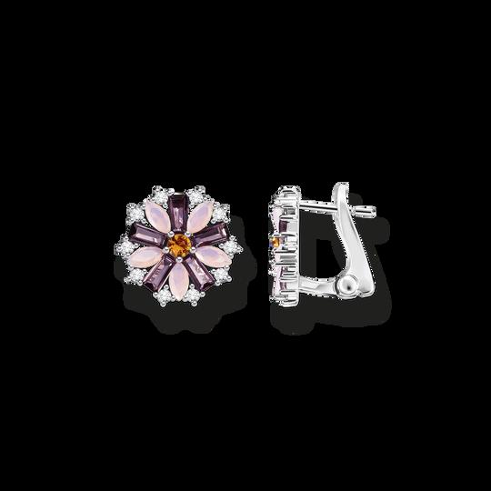 Ohrclip Blume silber aus der Glam & Soul Kollektion im Online Shop von THOMAS SABO