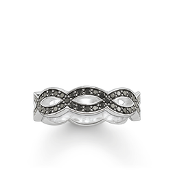 "eternity ring ""Love Knot black"" from the Glam & Soul collection in the THOMAS SABO online store"