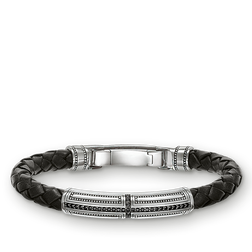 "Lederarmband ""Kreuz"" aus der Rebel at heart Kollektion im Online Shop von THOMAS SABO"
