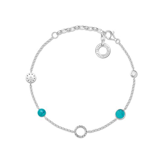 Charm bracelet turquoise stones from the Charm Club collection in the THOMAS SABO online store