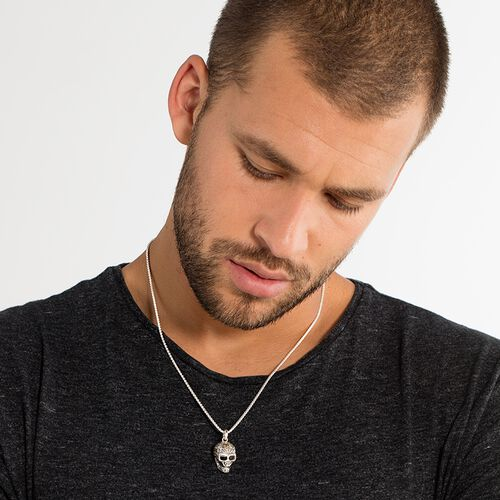 "necklace ""skull"" from the Rebel at heart collection in the THOMAS SABO online store"