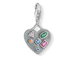 Charm pendant Heart colourful stones from the Charm Club Collection collection in the THOMAS SABO online store
