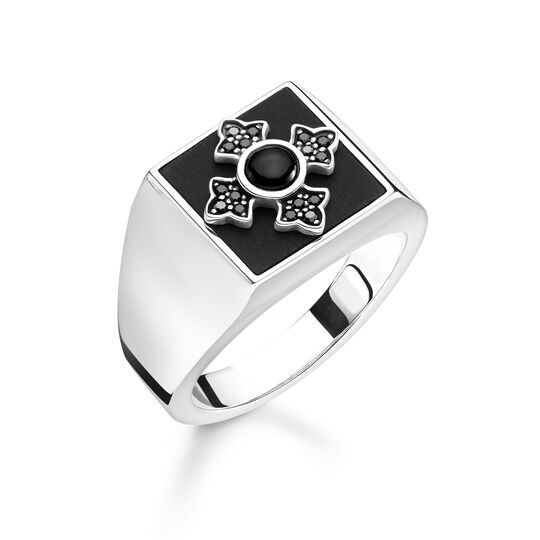 """ring """"Royalty cross"""" from the Rebel at heart collection in the THOMAS SABO online store"""