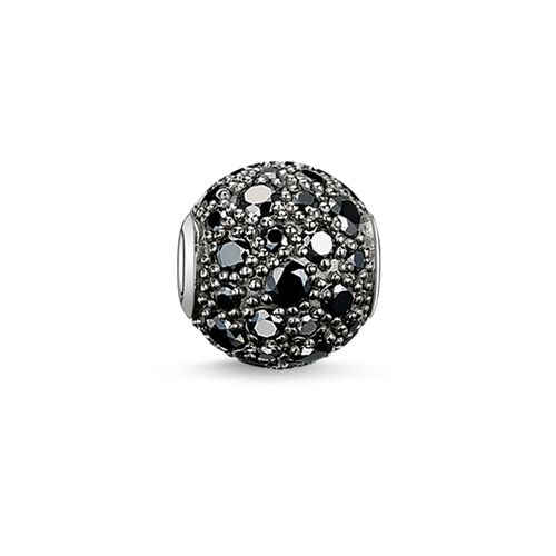 "Bead ""black crushed pavé"" from the Karma Beads collection in the THOMAS SABO online store"