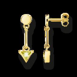 """pendientes """"triángulo verde"""" de la colección Glam & Soul en la tienda online de THOMAS SABO"""
