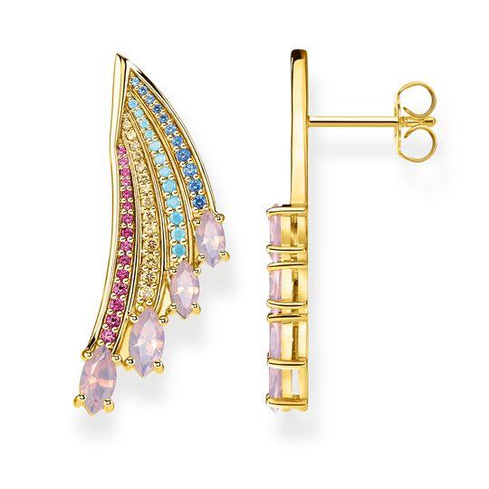 pendientes alas colibrí multicolor oro de la colección Glam & Soul en la tienda online de THOMAS SABO