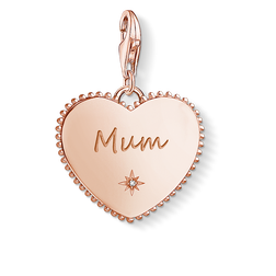 "ciondolo Charm ""cuore Mum oro rosa"" from the  collection in the THOMAS SABO online store"