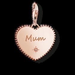 """pendentif Charm """"cœur Mum or rose"""" de la collection  dans la boutique en ligne de THOMAS SABO"""
