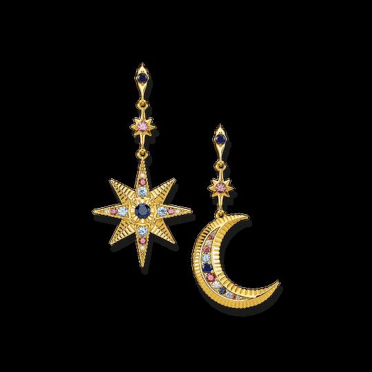 boucles d'oreilles Royalty étoile & lune de la collection Glam & Soul dans la boutique en ligne de THOMAS SABO