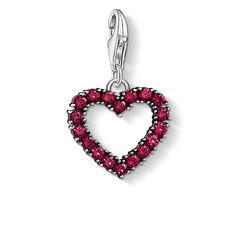 "Charm pendant ""Heart with hot pink stones "" from the  collection in the THOMAS SABO online store"