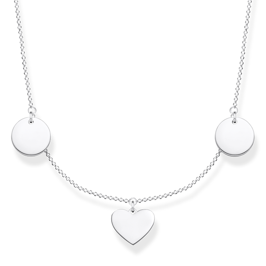 necklace disc and heart from the Glam & Soul collection in the THOMAS SABO online store