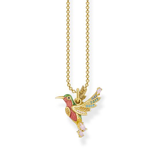 Necklace colourful hummingbird gold from the  collection in the THOMAS SABO online store
