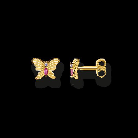 clous d'oreilles papillon or de la collection Glam & Soul dans la boutique en ligne de THOMAS SABO