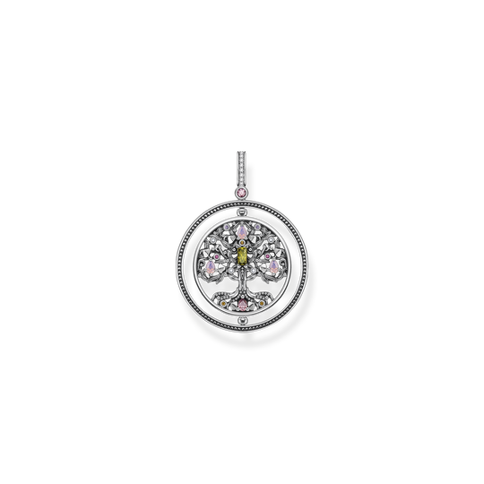 Pendant tree of love silver colourful stones from the Glam & Soul collection in the THOMAS SABO online store