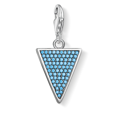 Thomas Sabo Charm pendant triangle mother-of-pearl turquoise multicoloured Y0026-509-7 Thomas Sabo