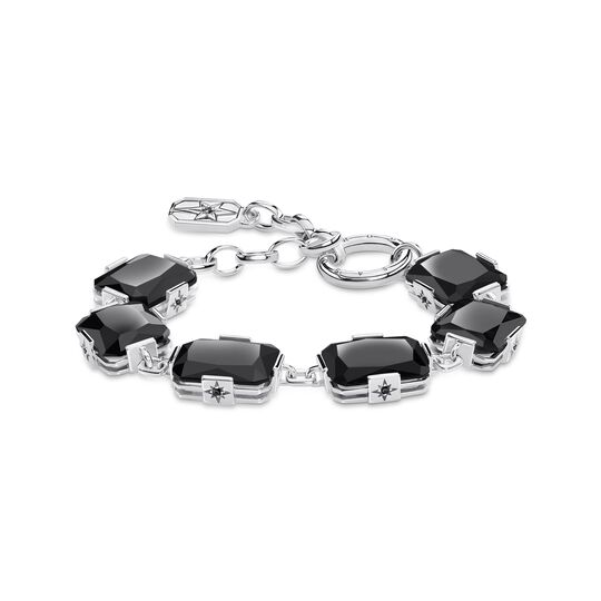 bracelet Large black stones from the Glam & Soul collection in the THOMAS SABO online store