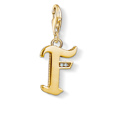 "Charm pendant ""letter F gold"" from the  collection in the THOMAS SABO online store"