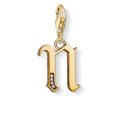 Charm pendant letter N gold from the Charm Club Collection collection in the THOMAS SABO online store