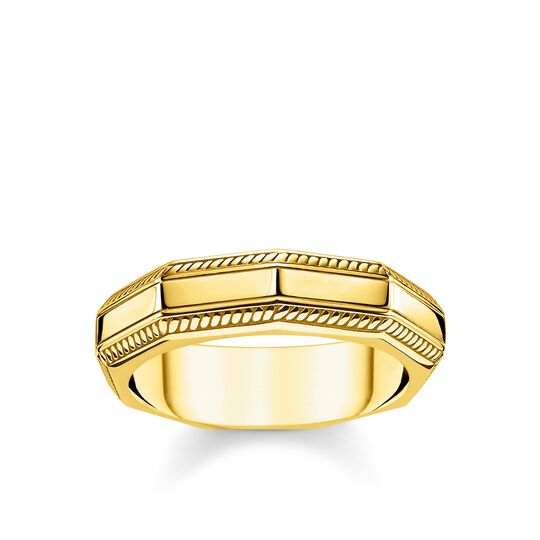 Ring Eckig gold aus der Rebel at heart Kollektion im Online Shop von THOMAS SABO