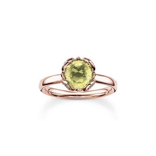 solitair ring green Lotos Blossom from the  collection in the THOMAS SABO online store