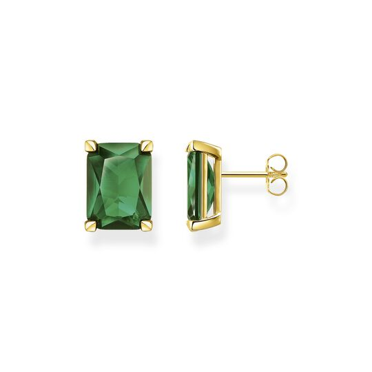 Ear Clip green stone gold from the  collection in the THOMAS SABO online store