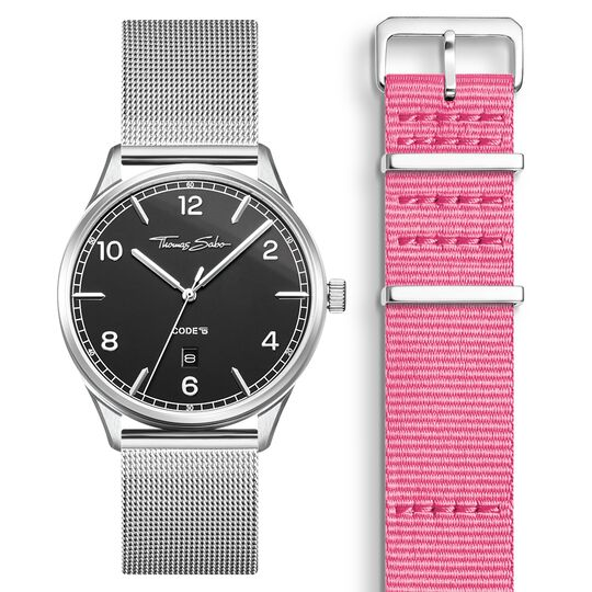 SET CODE TS svart klocka & rosa armband ur kollektionen  i THOMAS SABO:s onlineshop