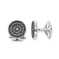 cufflinks Diamond zig zag from the Rebel at heart collection in the THOMAS SABO online store