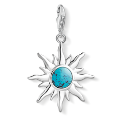 Charm pendant Sun with turquoise stone from the Charm Club Collection collection in the THOMAS SABO online store