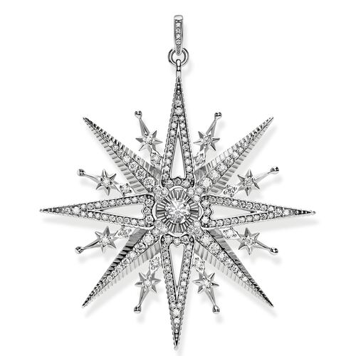 "pendant ""Royalty Star silver"" from the Glam & Soul collection in the THOMAS SABO online store"