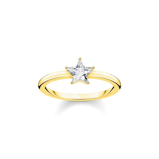 ring Sparkling star, gold from the  collection in the THOMAS SABO online store