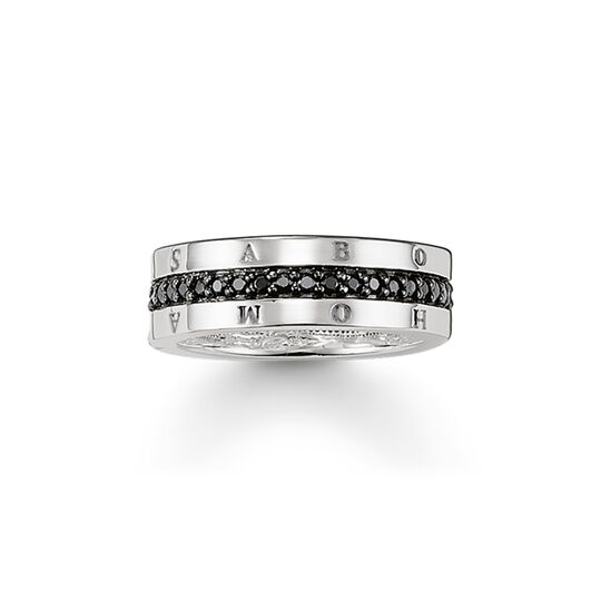 ring eternity classic black from the  collection in the THOMAS SABO online store
