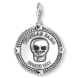 Charm pendant disc skull from the Charm Club Collection collection in the THOMAS SABO online store