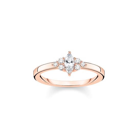 Ring vintage white Stones rose gold from the Charming Collection collection in the THOMAS SABO online store