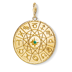 "Charm pendant ""Star sign coin gold"" from the  collection in the THOMAS SABO online store"