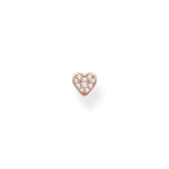 Single ear stud heart pavé rose gold from the Charming Collection collection in the THOMAS SABO online store