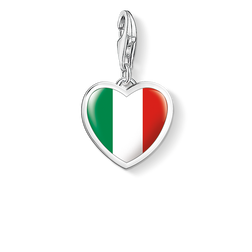 Charm pendant Italy flag heart from the  collection in the THOMAS SABO online store