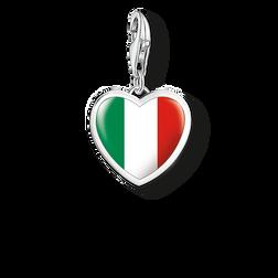 colgante Charm Corazón bandera Italia de la colección Charm Club Collection en la tienda online de THOMAS SABO