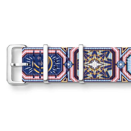 Watch strap CODE TS NATO, colourful night sky from the  collection in the THOMAS SABO online store