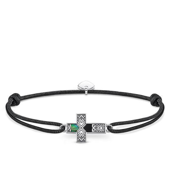 Bracelet Little Secret Cross Mother of Pearl Abalone from the Rebel at heart collection in the THOMAS SABO online store
