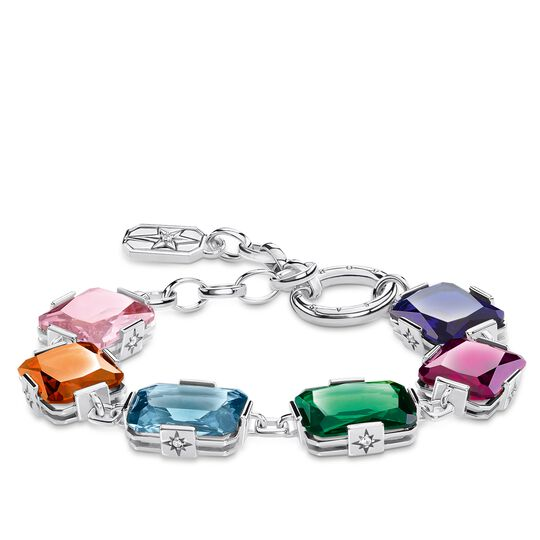 bracelet Large colourful stones, silver from the Glam & Soul collection in the THOMAS SABO online store