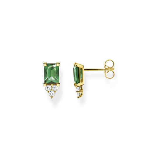 Clous d'oreilles pierre verte or de la collection  dans la boutique en ligne de THOMAS SABO