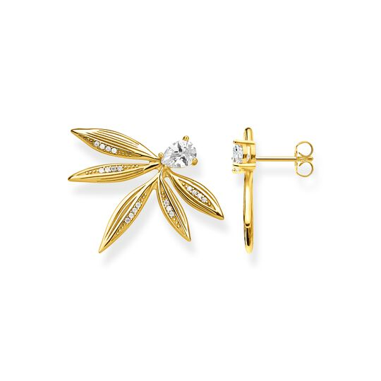 ear studs leaves gold from the  collection in the THOMAS SABO online store