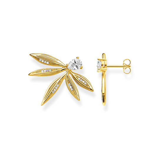 ear studs leaves gold from the Glam & Soul collection in the THOMAS SABO online store