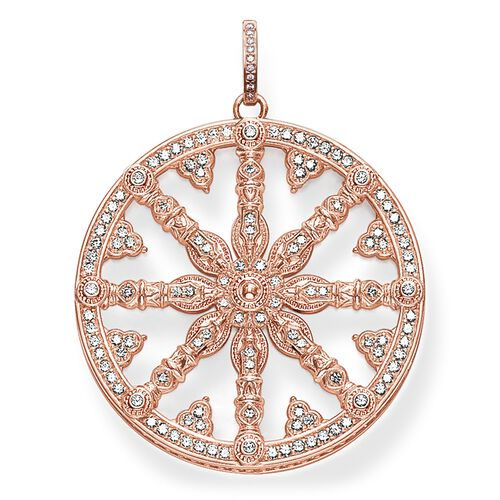 "pendant ""diamond Karma Wheel"" from the Glam & Soul collection in the THOMAS SABO online store"